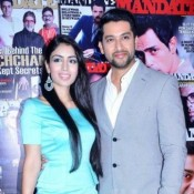 Aftab Shivdasani with his girlfriend Nin Dusanj at Launching Cover of Mandate Magazine in Mumbai