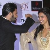 Deepika Padukone in White Dress at Kolkata for Ram Leela Movie Promotion