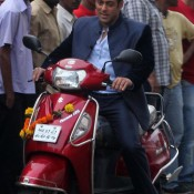 Salman Khan Driving Suzuki Access for a Scene of Upcoming Movie JAI HO earlier titled MENTAL