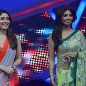 Shilpa Shetty in Green Transparent Saree at Nach Baliye 6