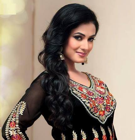 Sonal Chauhan in Black Anarkali Dress Photos
