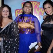 Sonia Shah in Black Saree at Premiere of Gujarati Film Happy Family Pvt Ltd