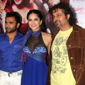 Sunny Leone at Film Jackpot First Look Launch Photos – Blue Gown Hot images