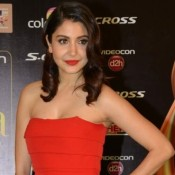 Anushka Sharma in Red Off Shoulder Floor Length Gown Photos at IIFA 2015