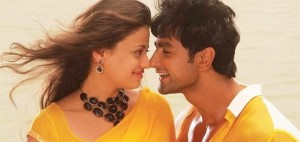 Sneha Ullal in Yellow Saree Backless Blouse in TERI MERI ANKAHI DASTAN Song of Bezubaan Ishq Movie 2015