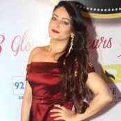 Mahi Vij in Maroon Floor Length Gown at 8th Boroplus Gold Awards 2015