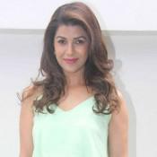 Nimrat Kaur in Green Maxi Skirt with Crop Top at Nishka Lulla Wedding Brunch Party