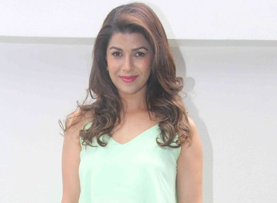 Nimrat Kaur in Green Maxi Skirt with Crop Top at Nishka Lulla Wedding Brunch Party