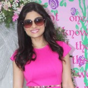 Shamita Shetty in Pink One Piece Dress at Nishka Lulla and Dhruv Mehra Wedding Brunch Party