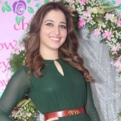 Tamanna Bhatia in Green Jumpsuit at Nishka Lulla Wedding Brunch Party