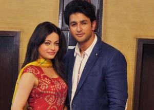 Sneha Ullal in Red Bandhani Leheriya Dress at Bezubaan Ishq Movie Promotion Photos