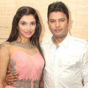 Bhushan Kumar of T-Series with Wife Divya Khosla at ASIN 28th Birthday Party Celebration