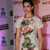 Deepika Padukone White Dress at Chennai Express Success Bash in Mumbai