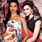 Deepika Padukone in Blue Dress at Star Week Magazine Diwali Edition Launching Event