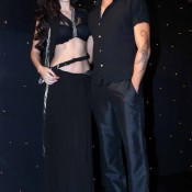 Dressed in Hot Transparent Black Saree Bruna Abdullah and Omar Farooquie at Nach Baliye 6 Launch