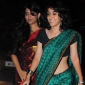 Ira Khan Daughter of Aamir Khan in Green Designer Saree and See Through Black Blouse