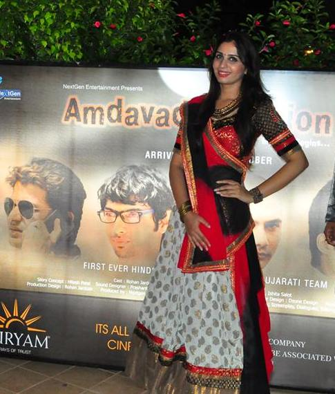 Ishita Salot in Chaniya Choli – Complete Gujarati Traditional Look in Promotional Event of AMDAVAD JUNCTION