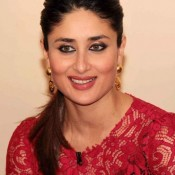 Kareena Kapoor in Red Dress on Kaun Banega Crorepati Television Show