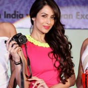 Malaika  Arora Khan Hot Pics in Sleeveless Pink Dress at Taiwan Excellence Campaign 2013