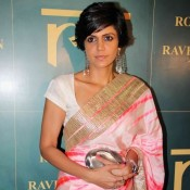 Mandira Bedi Hot in Saree Pics at Roopa Vohra Jewellery Launch in Mumbai