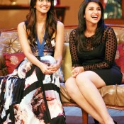 Parineeti Chopra in Short Black Dress at Comedy Nights With Kapil