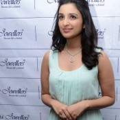 Parineeti Chopra in Gown at Hyderabad for Meena Jewellers Launching Event