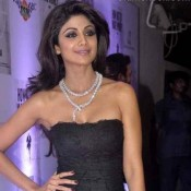 Shilpa Shetty Black Dress at Hubbys Book Success Party in Mumbai