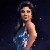 Shilpa Shetty in Blue Gown Pics Photos Launches Nach Baliye Season 6
