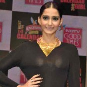 Sonam Kapoor See Through Dress – Hot Photos in Black Transparent Dress