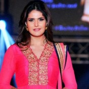 Zarine Khan in Pink Anarkali Dress at The 1st Bullion And Jewellery Awards 2013