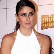 Kareena Kapoor Hot in White One Piece Dress for Bajrangi Bhaijaan Film Trailer Launch