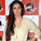Drishyam Movie Promotion Pics at Fever 104 FM – Tabu in Cream Anarkali Dress Photos