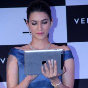 Kriti Sanon in Blue off Shoulder One Piece Frock at Launch VelvetCase Website