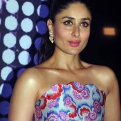 Kareena Kapoor in Printed Strapless Gown at After Party of Provogue Mr India 2015