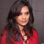 Richa Chadha in Maroon Anarkali Churidaar Dress at Masaan Movie Screening Photos