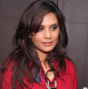 Richa Chadha in Maroon Anarkali Churidaar Dress at Masaan Movie Screening Photos