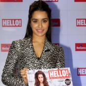 Shraddha Kapoor in Printed Pant Suit for Launched Hello Magazine Cover Photos