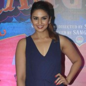 Huma Qureshi in Blue Jumpsuit Photos at Guddu Rangeela Movie Screening Bash