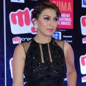 Hansika Motwani in Black Evening gown at South Indian International Movie Awards 2015