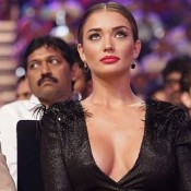 Amy Jackson in Black Evening Gown at South Indian International Movie Awards 2015