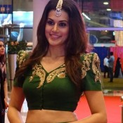 Taapsee Pannu in Green Lehenga Skirt at South Indian International Movie Awards 2015
