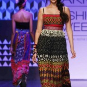 Aditi Rao Hydari In Traditional Dress At Lakme Fashion Week 2013