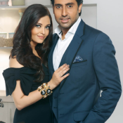 Aishwarya Rai And Abhishek Bachchan in Prestige Ad 2013 – Ashwariya in black dress at Prestige Ad Photo Shoot Image