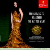 Aishwarya Rai in Kalyan Jewellers Bangle Utsav Print Advertisement