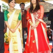 Aishwarya Rai in Red Dress – Traditional Anarkali Suits Churidar Photos