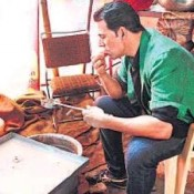 Akshay Kumar Cooking in Boss Movie Stage