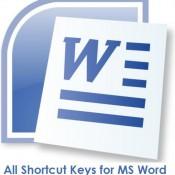 All Shortcut keys for MS Word – Microsoft Word