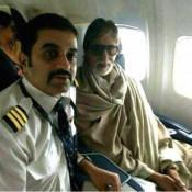 Amitabh Bachchan And Rekha In Flight Photos