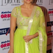 Asin in Lemon Traditional Dress at GR8 Women Awards 2013