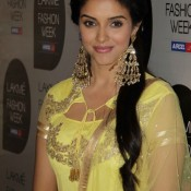Asin at Lakme Fashion Week 2013 – Yellow Dress Traditional Look Pics